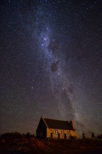 Galaxy in Lake Tekapo, New Zealand